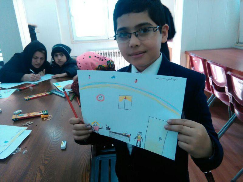 کودکان هموفیلی تهرانی نقاشی کشیدند