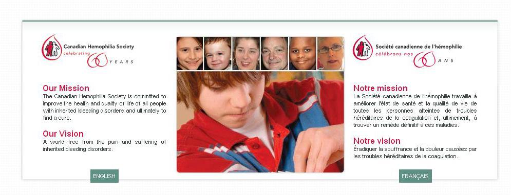 یک اقدام خیرخواهانه  با همکاری بانک خون کانادا، انجمن هموفیلی کانادا و فدراسیون جهانی هموفیلی