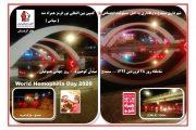 شهر سنندج در استقبال از روز جهانی هموفیلی به کمپین بین المللی نور قرمز پیوستند